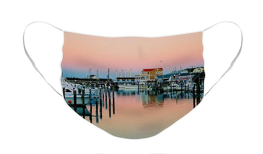 Cape May Face Mask featuring the photograph Cape May after Glow by Steve Karol