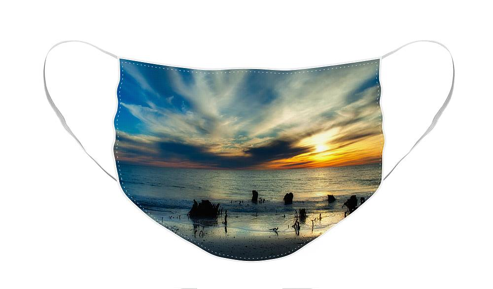Sunset Face Mask featuring the photograph Cape San Blas Sunset by Rich Leighton