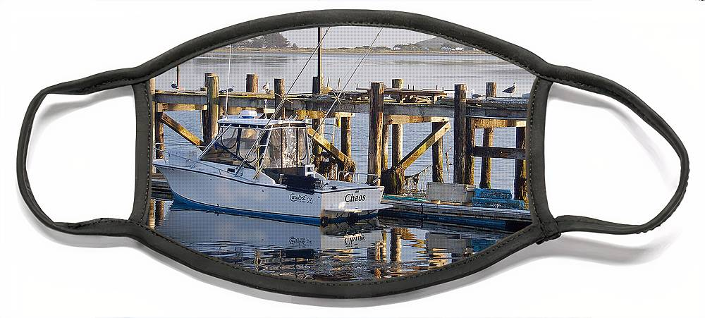 Boat Face Mask featuring the photograph Chaos near Bodega Bay by Suzanne Gaff