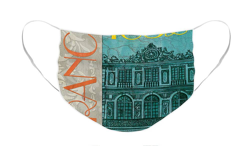 France Face Mask featuring the painting Chateau de Versailles by Debbie DeWitt
