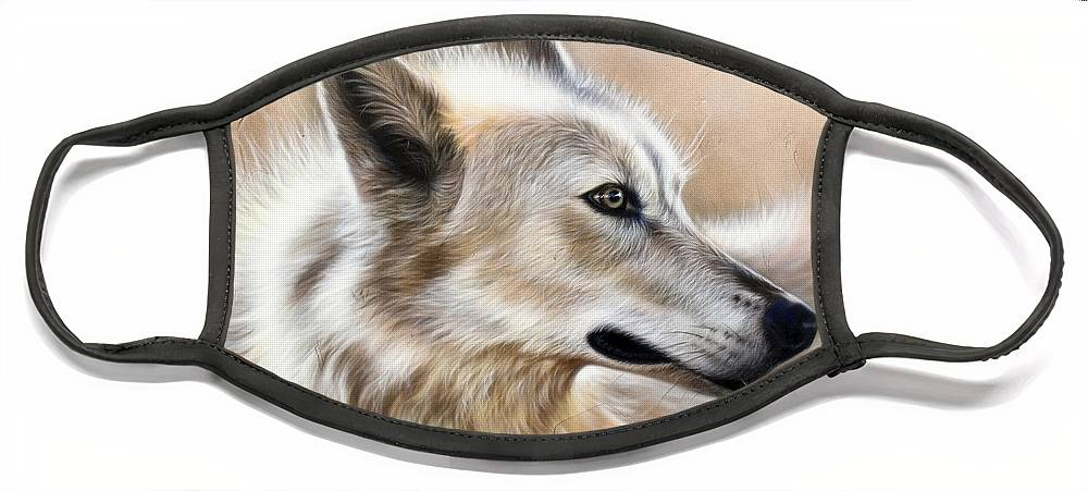 Acrylic Face Mask featuring the painting Cheyenne by Sandi Baker