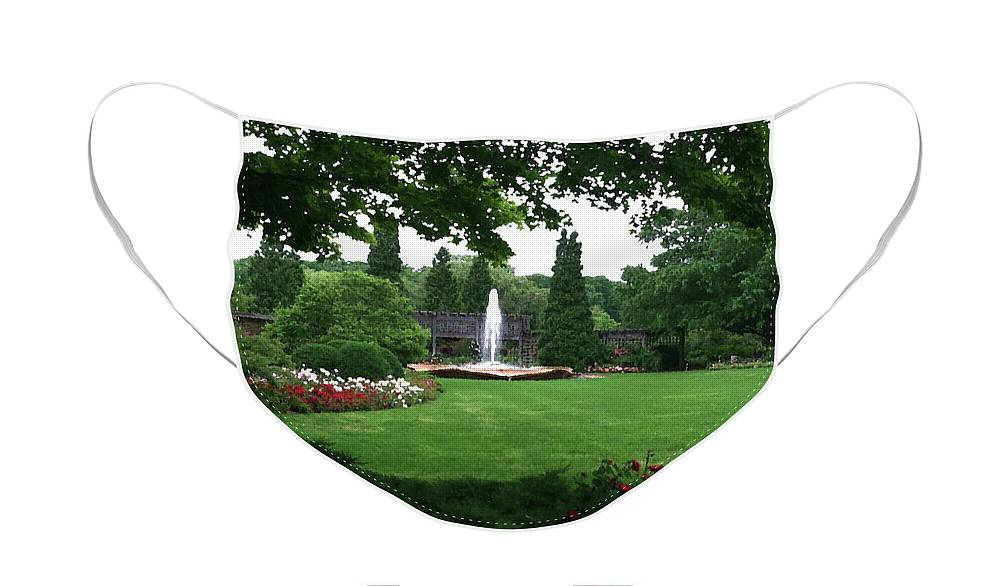 Landscape Face Mask featuring the photograph Chicago Botanical Gardens Landscape by Steve Karol
