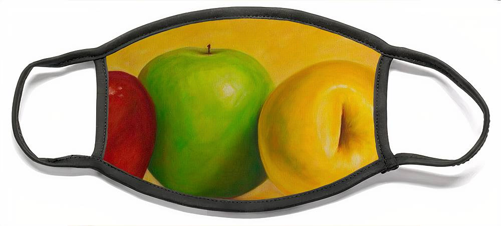 Still Life Face Mask featuring the painting Chorus Line by Shannon Grissom