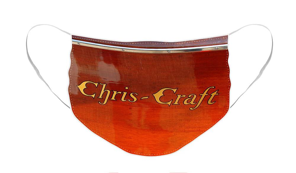 Logo Face Mask featuring the photograph Chris Craft Logo by Michelle Calkins