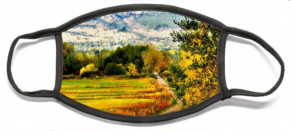 Americana Face Mask featuring the photograph Clearly Colorado by Marilyn Hunt