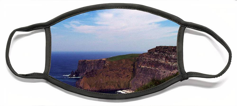Irish Face Mask featuring the photograph Cliffs of Moher Aill Na Searrach Ireland by Teresa Mucha