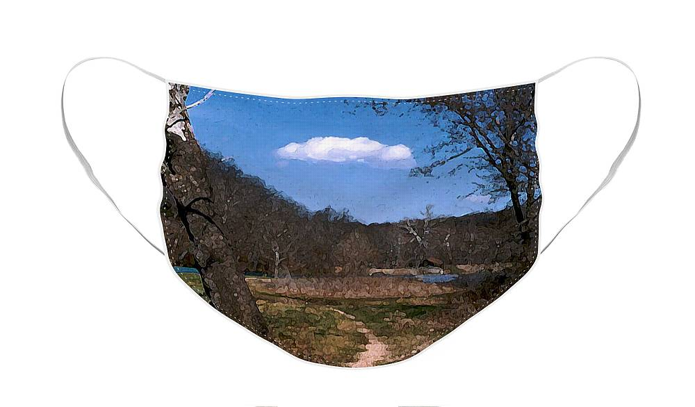 Landscape Face Mask featuring the photograph Cloud Destination by Steve Karol
