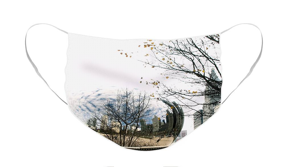 Chicago Face Mask featuring the photograph Cloud Gate - 1 by Ely Arsha