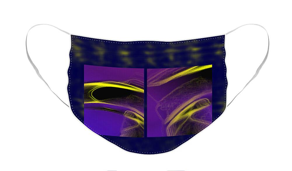 Abstract Face Mask featuring the digital art Cobra by Steve Karol