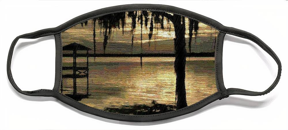 Florida Face Mask featuring the digital art Colee Cove by Scott Waters