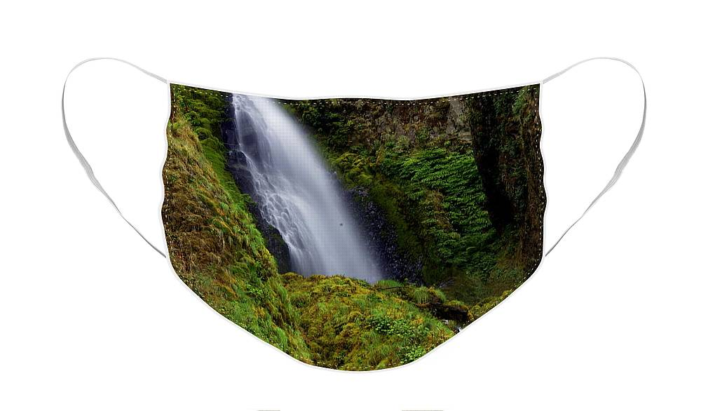 Waterfall Face Mask featuring the photograph Columbia River Gorge Falls 1 by Marty Koch