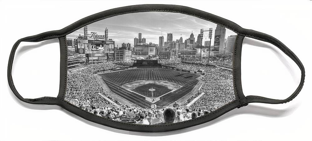 Giant Tiger Face Mask featuring the photograph Comerica Park by Nicholas Grunas
