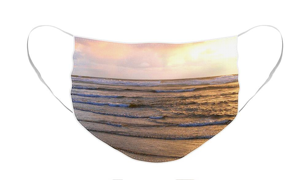 Sunset Face Mask featuring the photograph Copper Shores by Will Borden