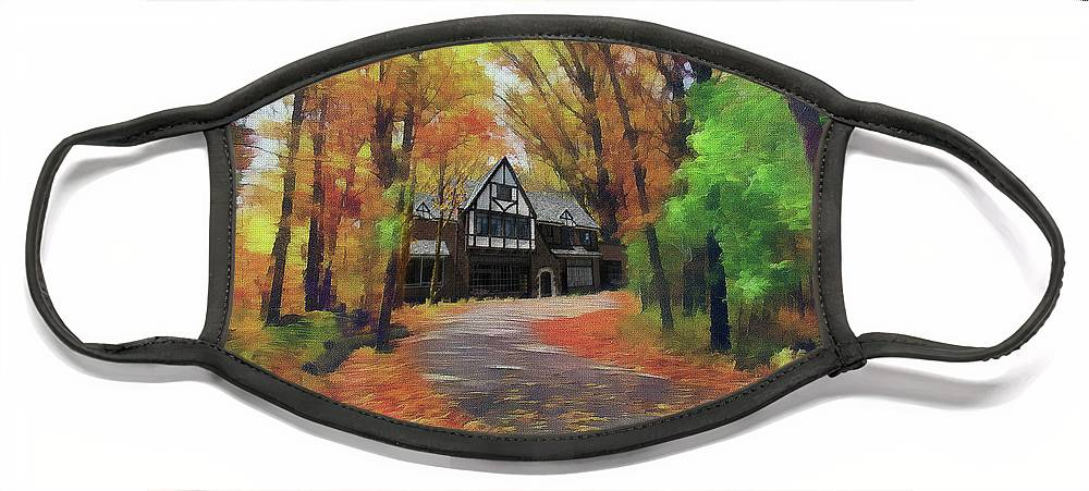 Cedric Hampton Face Mask featuring the photograph Cottage In The Woods by Cedric Hampton