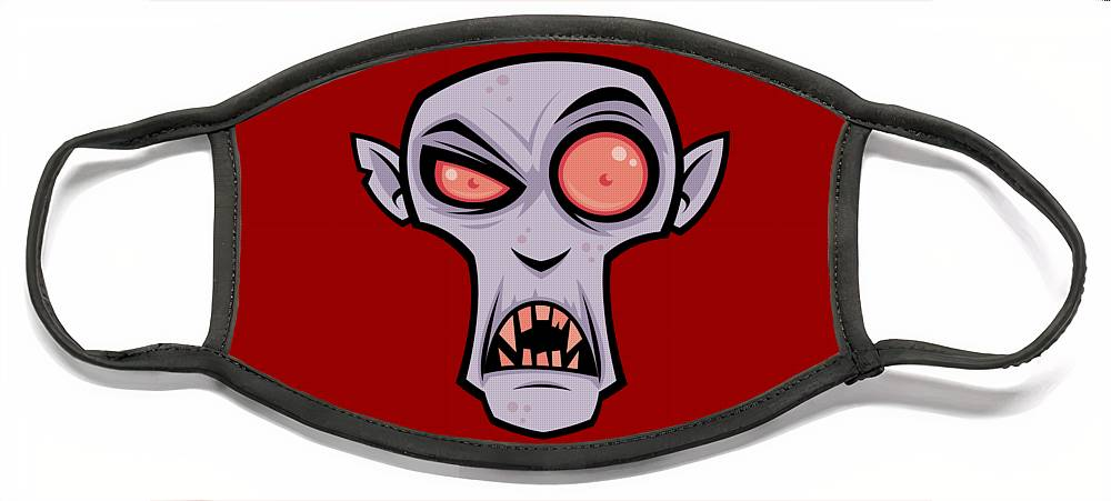 Dracula Face Mask featuring the digital art Count Dracula by John Schwegel