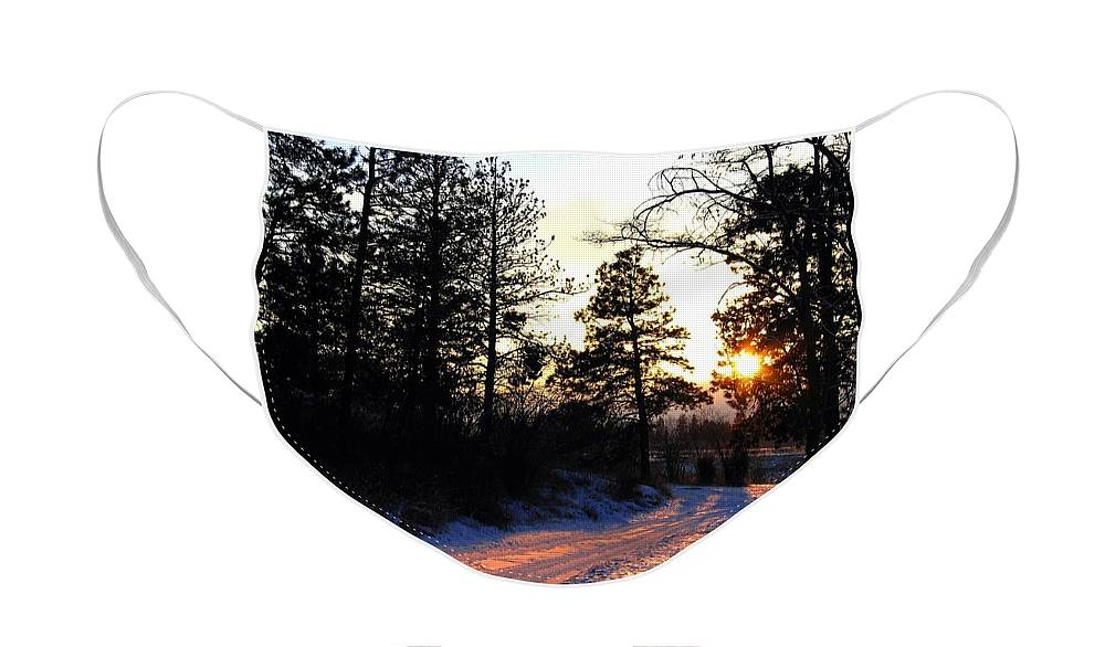 Country Road Face Mask featuring the photograph Country Road Sunset by Will Borden