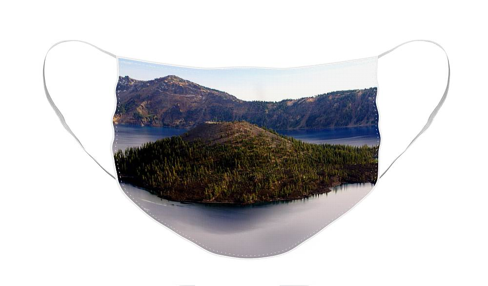 Crater Lake Face Mask featuring the photograph Crater Lake 1 by Marty Koch
