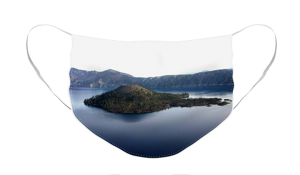 Crater Lake Face Mask featuring the photograph Crater Lake 2 by Marty Koch