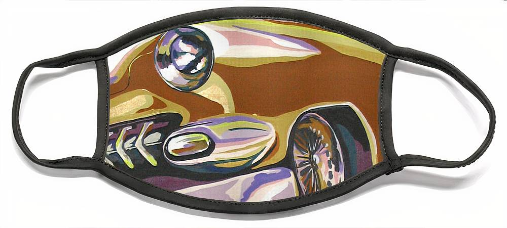 Route 66 Face Mask featuring the painting Cruisin by Sandy Tracey
