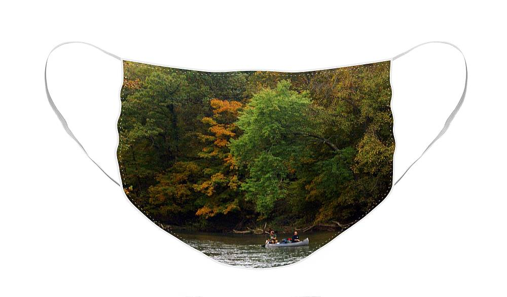 Current River Face Mask featuring the photograph Current River 2 by Marty Koch