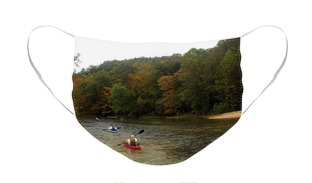 Current River Face Mask featuring the photograph Current River 3 by Marty Koch