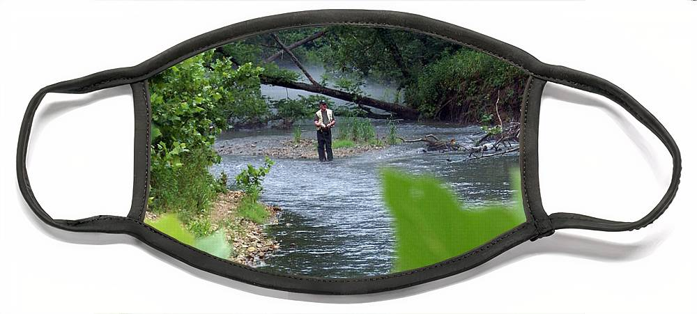 Current River Face Mask featuring the photograph Current River 5 by Marty Koch