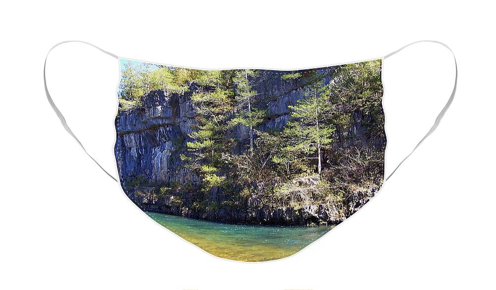 Current River Face Mask featuring the photograph Current River 7 by Marty Koch