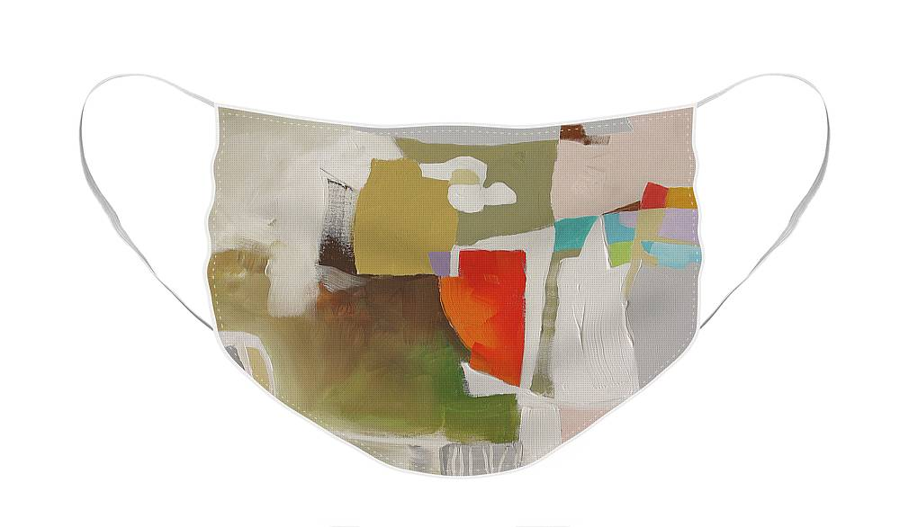 Painting Face Mask featuring the painting Cuts Like A Knife by Linda Monfort