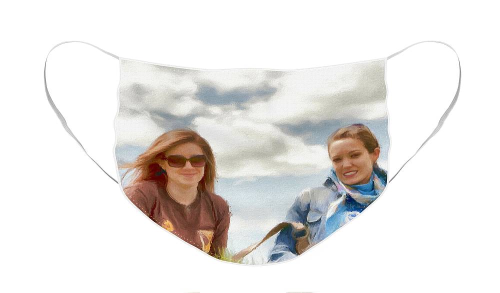 Canadian Face Mask featuring the painting Daughters by Jeffrey Kolker