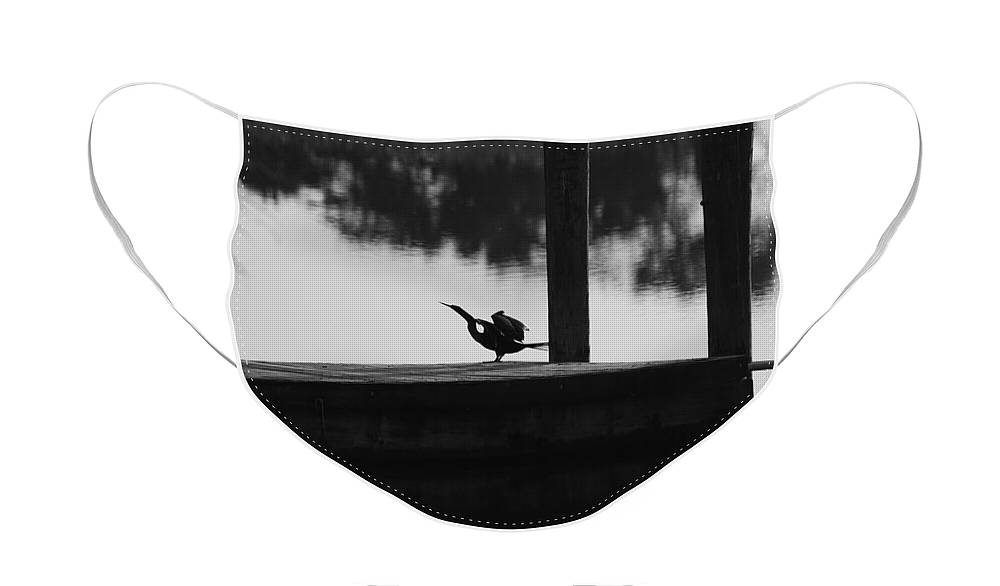 Dock Face Mask featuring the photograph Dock Bird by Rob Hans
