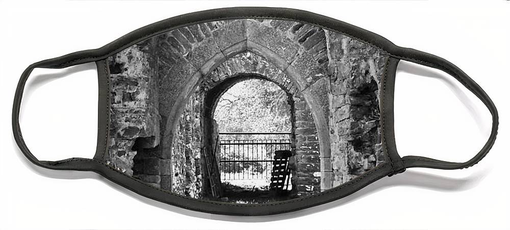 Irish Face Mask featuring the photograph Doors at Ballybeg Priory in Buttevant Ireland by Teresa Mucha