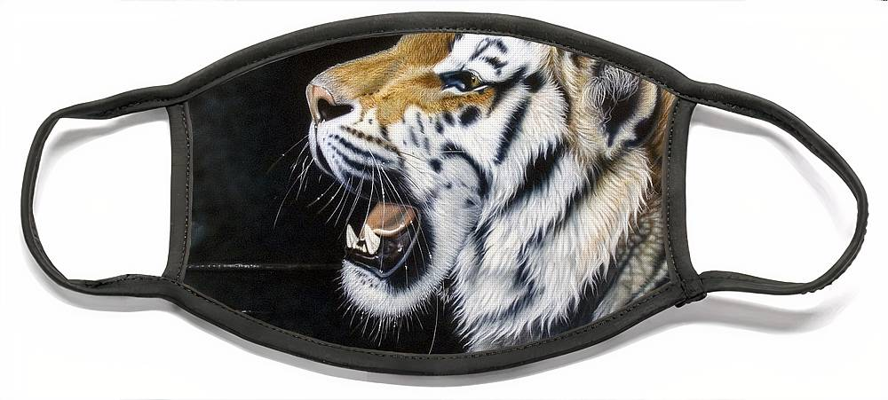 Tiger Face Mask featuring the painting Dragonfly by Sandi Baker