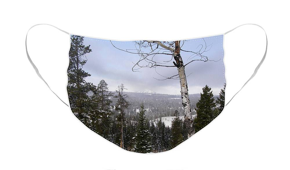 Rockies Face Mask featuring the photograph Early Snows In The Rockies by DeeLon Merritt