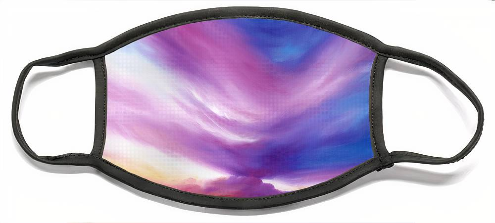 Clouds Face Mask featuring the painting Ecstacy by James Christopher Hill