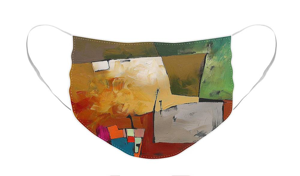 Original Face Mask featuring the painting Elusive by Linda Monfort