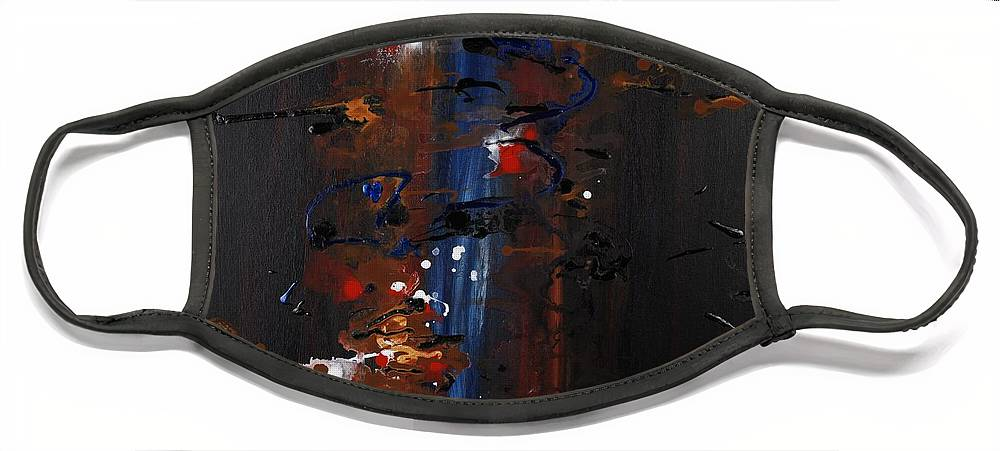 Black Face Mask featuring the painting Energy by Nadine Rippelmeyer
