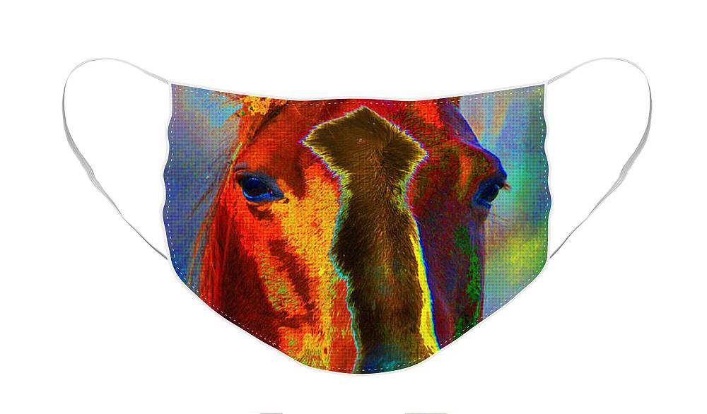 Berry Face Mask featuring the painting Equus by Diane E Berry