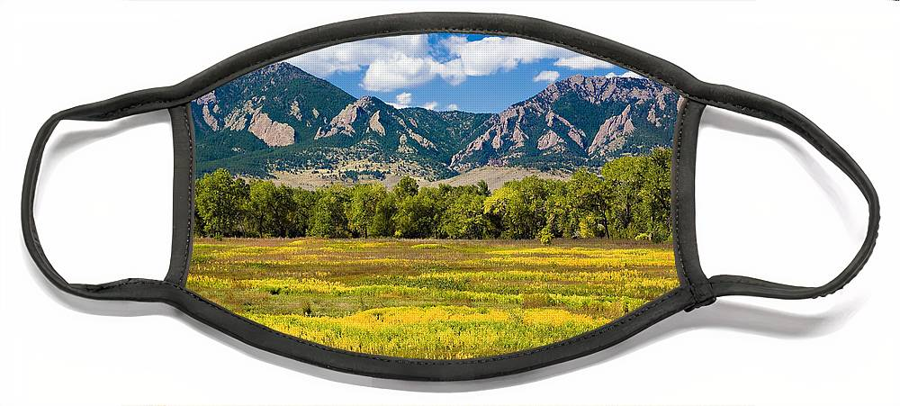 Americana Face Mask featuring the photograph Fall Colors of Boulder Colorado by Marilyn Hunt
