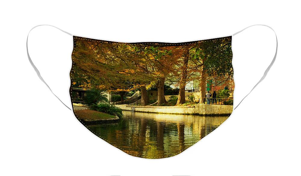 Landscape Face Mask featuring the photograph Fall in San Antonio by Iris Greenwell