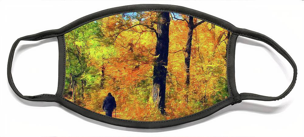 Cedric Hampton Face Mask featuring the photograph Fallen Leaves by Cedric Hampton