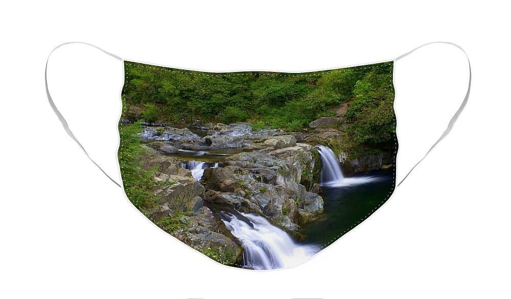 Waterfall Face Mask featuring the photograph Falls Falls by Marty Koch