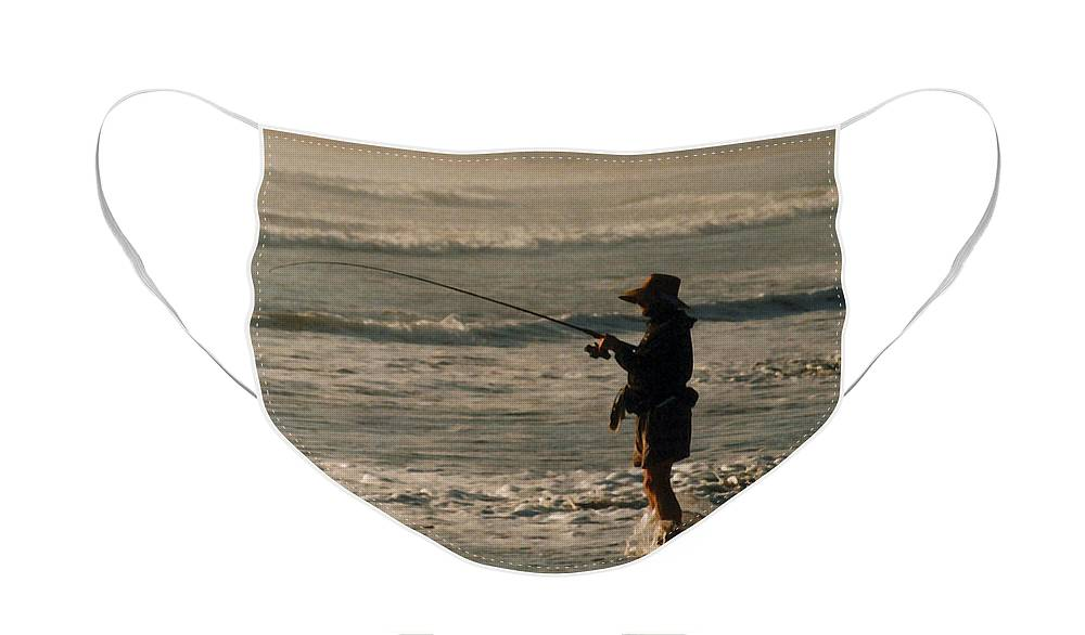 Fisherman Face Mask featuring the photograph Fisherman by Steve Karol