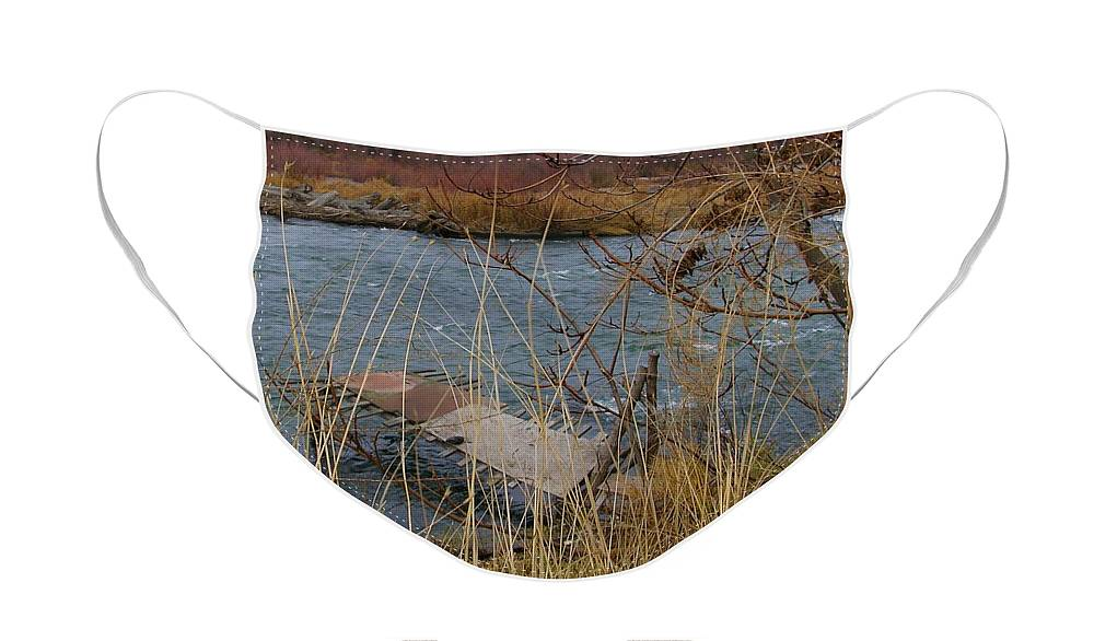 Native American Face Mask featuring the photograph Fishing Platform by Carol Groenen