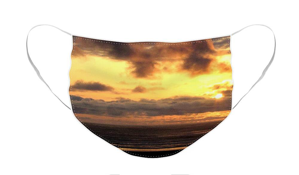 Sunset Face Mask featuring the photograph Flying Dog Sunset by Will Borden
