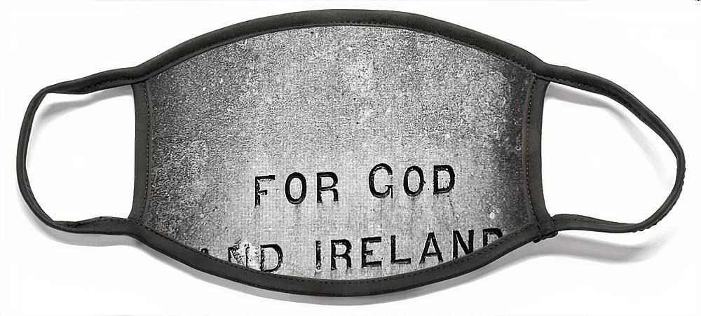 Irish Face Mask featuring the photograph For God and Ireland Macroom Ireland by Teresa Mucha