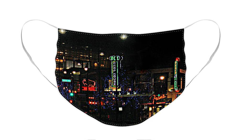 City Scape Face Mask featuring the photograph Fourteenth and Main by Steve Karol