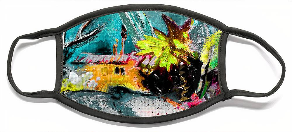 Pastel Painting Face Mask featuring the painting Glory of Nature by Miki De Goodaboom