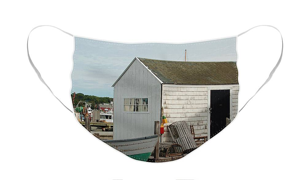 Boat Face Mask featuring the photograph Gloucester Boat House by Suzanne Gaff