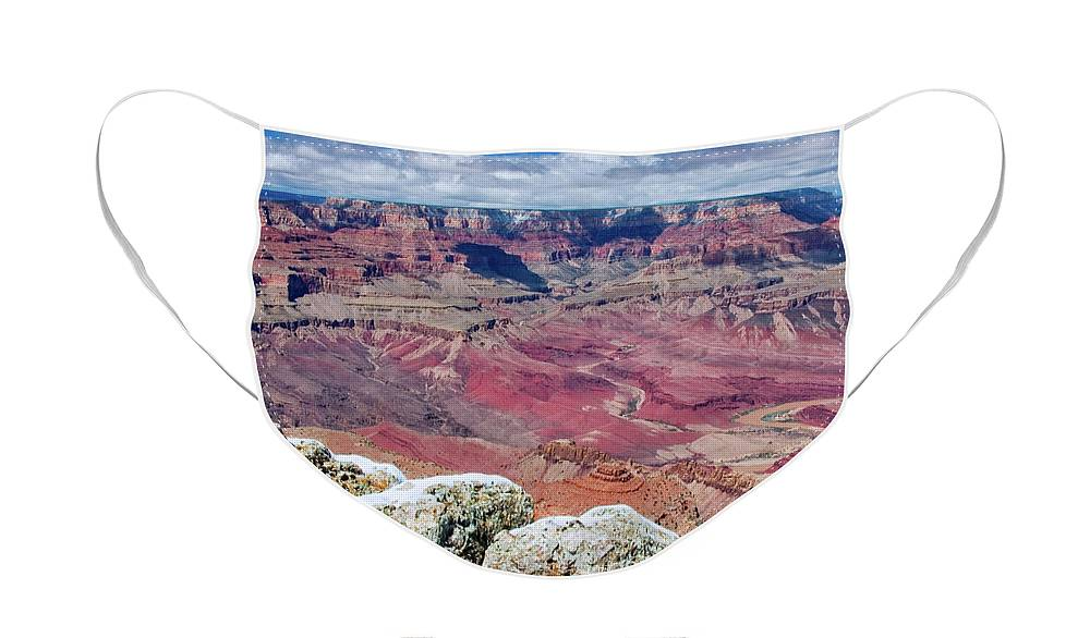 Landscape Face Mask featuring the photograph Grand Canyon in Arizona by Julia Hiebaum