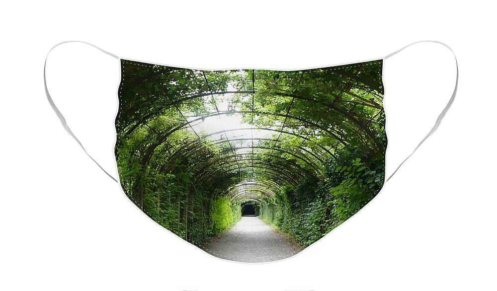 Arbor Face Mask featuring the photograph Green Arbor of Mirabell Garden by Carol Groenen